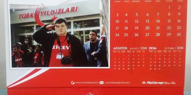 ZİÇEV Gençleri, Türk Yıldızları 2018 Yılı Takviminde…