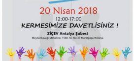 Sevgili Antalya'lılar, 20 Nisan 2018'de JCI Antalya ile ZİÇEV Antalya şubemizin düzenleyeceği kermese hepinizi bekleriz