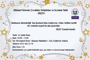 """Sevgili Ankaralılar, 16 Aralık 2018 Pazar günü Mövenpick Hotel'de düzenleyeceğimiz """"Kış Kermesi""""mize hepinizi bekleriz!"""