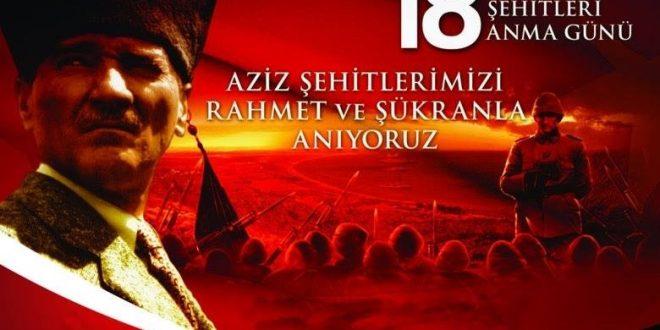 18 Mart Çanakkale Zaferi'nin 104. yıl dönümü kutlu olsun